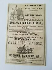 1867 New York Palmyra Myrick Marble Sherman Buggies Carriages Advertisement Ad