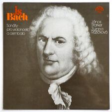 JANOS STARKER J.S.Bach cello sonatas czech supraphon 1111 2485 STEREO LP