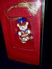 New Lenox Teddy Bear Drummer Holiday Hinged Trinket Box Ornament