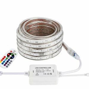 LED Strip 220V 240V RGB Waterproof 5050 SMD Rope Garden Decking Kitchen Lights