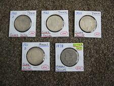 5 SILVER DOLLARS --  2 MORGAN DOLLARS and 3 PEACE DOLLARS