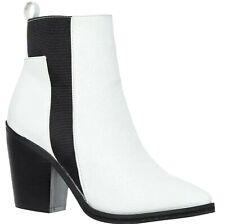 New Womens KRUSH Tumble Heeled Ankle Boots White Size UK 8