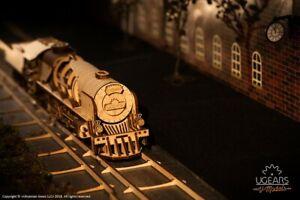 Ugears Code: 70058 Wooden 3D Mechanical model Locomotive with tender V-Express