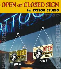 "TATTOO STUDIO SIGN ""OPEN-CLOSED"" VINTAGE STYLE"" TARGHETTA ""APERTO-CHIUSO"""