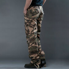 Men Military Pants Army Camouflage Work Cargo Combat Carpenter Military Trousers