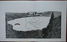 GIULIO PAOLINI tavola in fototipia ''L'EXIL DU CYGNE'' 1984 (ns rif 39)