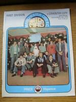 18/12/1976 Manchester City v Coventry City  (Small Nick On Edge, Fold, Score & S