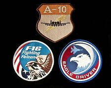 US Air Force F-16 Viper, F-15 Eagle, and A-10 Hawg Patches, Iraq & Afghanistan