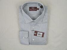 NEW $275 Hickey Freeman Dress Shirt!  17 35  *Gray with White Stripe*  *Italy*