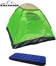 Zaltana 3 Person Dome tent, Single size air mattress
