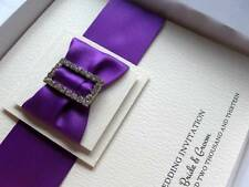 Cadburys Purple Luxury Wedding Invitation + Presentation Box - All Colours