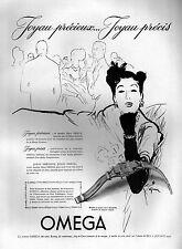 ▬► PUBLICITE ADVERTISING AD OMEGA Montre Watch René GRUAU 1947