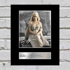 Emilia Clarke Signed Mounted Photo Display Daenerys Targaryen - Game of Thrones