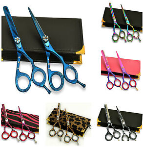Giftset Hairdressing & Hair Thinning Scissors Japanese Stainless Steel 5.5""
