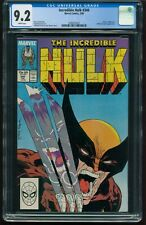 INCREDIBLE HULK 340 CGC 9.2 NM- ICONIC MCFARLANE COVER WOLVERINE APPEARS G-503