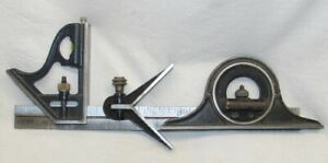 """Stanley H1222 ½ Combination 12"""" Square with Center & Protractor   C"""