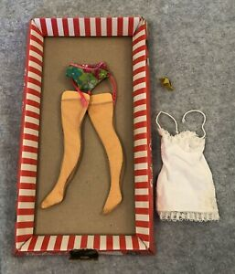 1960s Barbie Doll Pak Under-Liners #1821-165 Box, Garters, Stockings, incomplete