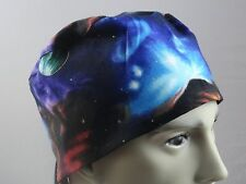 Medical_Surgical_ scrub hat_cap_celestial_solar system_sky_planets_unisex_cotton