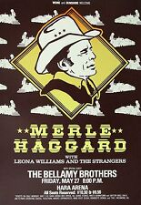 MERLE HAGGARD / BELLAMY BROTHERS DAYTON, OHIO CONCERT TOUR POSTER-Country Legend