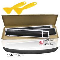 5x4D Pedal Bumper Trunk Tail Lip Carbon Fiber Protector Sticker Anti Scratch BLK