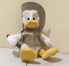 "Walt Disney World Donald Duck Safari Explorer 10"" Plush Stuffed Toy Vintage"