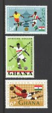 Ghana 1966 SOCCER GOALKEEPER, PLAYERS, CUP, OVERPRINTS MNH Sc 244-46 SG 412-14