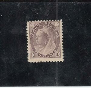 CANADA (MK4266) # 83  F-MH  10cts  QV NUMERAL / BROWN-VIOLET CAT VALUE $200