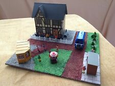 OO gauge diorama of a village scene. Waiting for the bus. Suit railway / Hornby