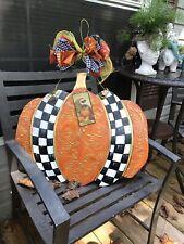 My Large Handpainted Fall Pumpkin And Mackenzie Child Napkin