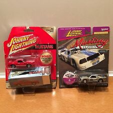 Lot of 2 NEW JOHNNY LIGHTNING: 1977 Cobra II & 1975 Cobra II Racer, Silver & Red