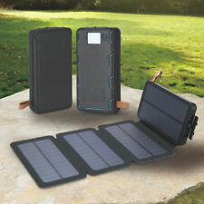 Portable Foldable Solar Panel Charger USB Dual Port LED Power Bank Case DIY Kit