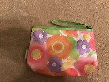 Clinique Cosmetic Bag 6 x 9 x 2 inches Zippered Top with Strap Lined
