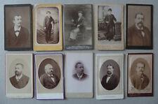 Lot de 45 Photos Carte de Visites Cdv Homme Vers 1880/90
