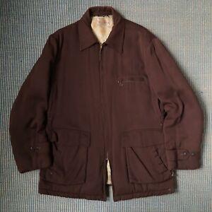 Vintage 1940s Quilted Redbank Gabardine Jacket Medium Large Rockabilly