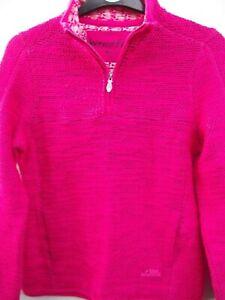 Weird Fish. 1/4 Zip Dark Pink Classic Macaroni Sweatshirt Top. Size 10