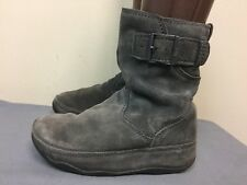 FitFlop Shorty gray Pull On Suede Winter Boots Women's Size US 5