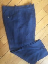 Women's Puro Lino Navy Linen Pants Made in Italy Size XL