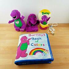 Vintage 90s Barney Collection- Soft Book, Puppet, Nightlight, Singing Plush