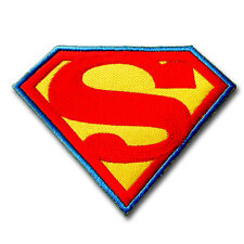 Superman Logo Emblem Patch Embroidered Iron on applique Badge Comic Super Hero