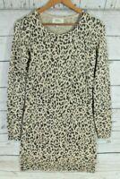 Papaya Leopard Print Knitted Tunic Jumper Dress Size UK 8