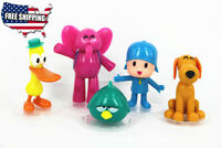 5pc Set Pocoyo Zinkia Elly Pato Loula Sleepy Bird Action Figures Toy Cake Topper