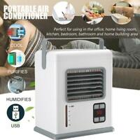 Mini Air Cooler Air Conditioner Portable Fan Powered by Battery/USB Charging