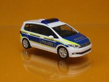 Herpa 093576 Volkswagen VW Touran Polizei Brandenburg blau weiss Scale 1 87 NEU