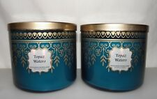 Bath & Body Works Home Topaz Waters 3 Wick Scented Candle