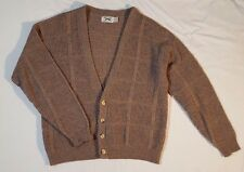 The Fox Sweater JC Penny Size XL Mens Gray/Tan Long Sleeves Button Up 50% Wool