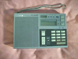 Sony ICF-7600D World Radio Receiver FM/AM/LW/MW/SW Shortwave Tested Works Excel.