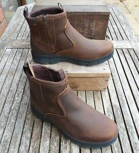 Skecher Resment Corver Wide Fit Chelsea Ankle Boots, Size 11, Brown, RRP £105