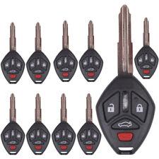 10 Remote Key Shell Fit for Mitsubishi Endeavor Outlander Galant 4Bt Uncut Blade