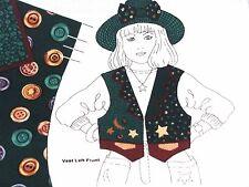 Panel Green Girl'S Vest & Hat Starry All Cotton Fabrics Cranston Girls Sz 6-12