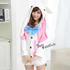 VOCALOID Hatsune Miku Rabbit Coat Lovely Hoodie Anime Cosplay Party Costume